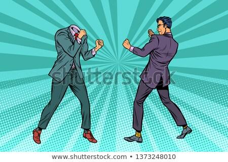 Two men businessman fighting. Pattern without head Stock photo © studiostoks