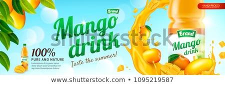 mango · succo · pubblicità · banner · vettore - foto d'archivio © SaqibStudio