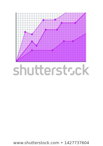 Analytics Visualization in Form of Linear Graphic Stock photo © robuart