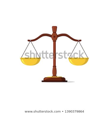 Orange Scales and Libra Icon Vector Illustration Stock photo © cidepix