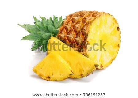 Half gesneden ananas stukken boven Stockfoto © dash