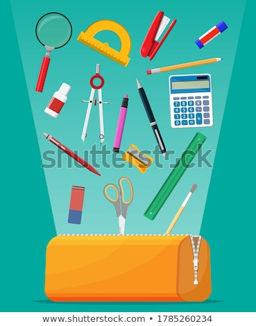 Stapler of Blue Color Item Vector Illustration Stock photo © robuart