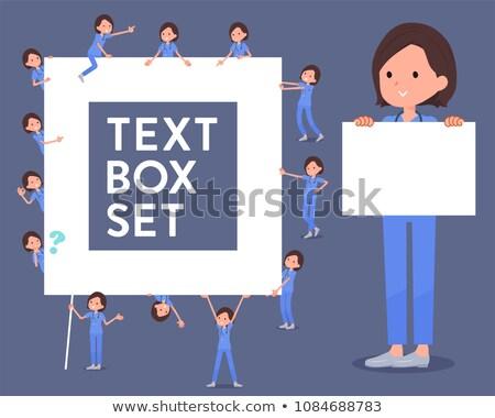 Cirúrgico operação azul desgaste caixa conjunto Foto stock © toyotoyo