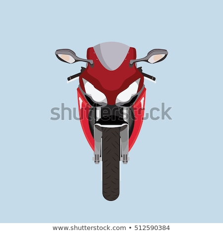 Red Scooter Front View, Motorized Modern Motorbike Stock photo © robuart