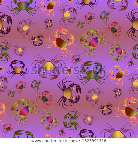 Varicoloured Marine Creatures Seamless Pattern Stock photo © robuart