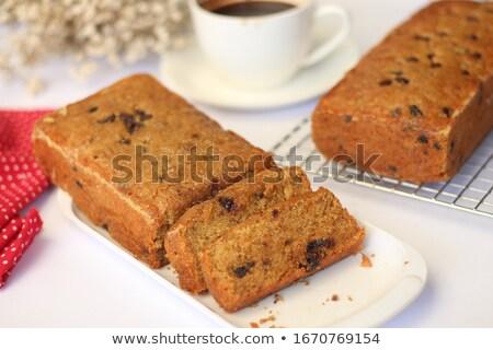 Maison gâteau au chocolat refroidissement grille tranches alimentaire Photo stock © mpessaris