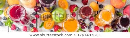 консервированный продовольствие Баннеры набор плодов Ягоды Сток-фото © robuart