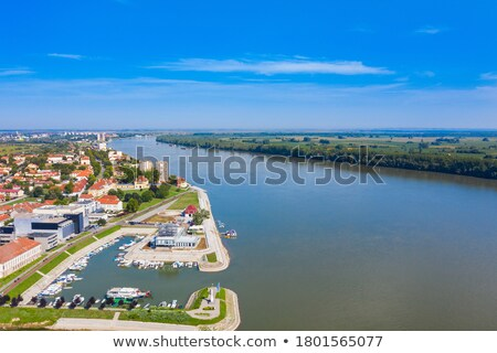 Vukovar city and Danube river coast view Stock photo © xbrchx