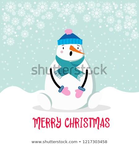 面白い · 雪だるま · 帽子 · ニンジン · 鼻 - ストックフォト © balasoiu