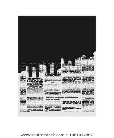 Lama jornal má notícia preto página papel Foto stock © MaryValery