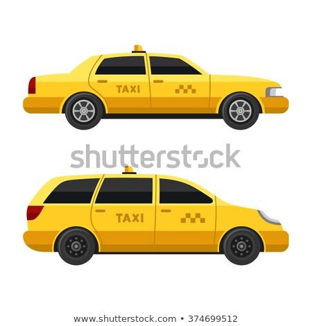 żółty taksówką taksówka samochodu wektora Zdjęcia stock © YuriSchmidt
