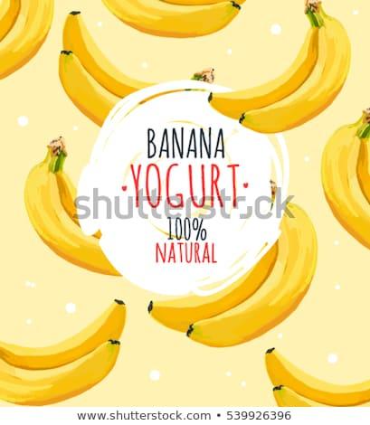 セット バナナ テンプレート 実例 背景 市場 ストックフォト © colematt