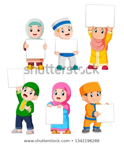gelukkig · kid · jongen · banner · teken - stockfoto © colematt