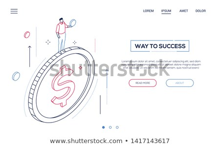 Investments - modern line design style web banner Stock photo © Decorwithme