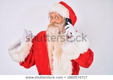 サンタクロース · 話し · 携帯電話 · 白 · 男 · 冬 - ストックフォト © feedough