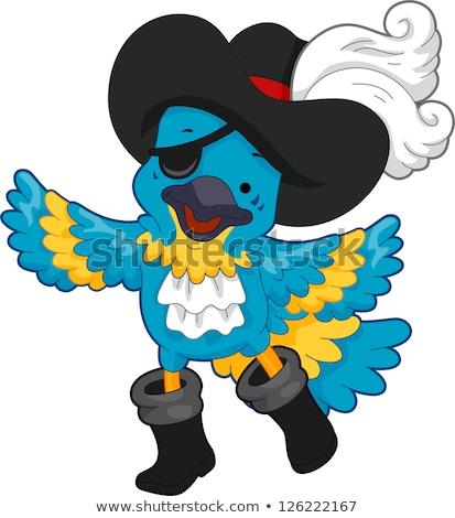 Corsair With Eye Patch Mascot Stock photo © patrimonio