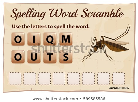 Spelling word scramble game for word mosquito Stock photo © colematt