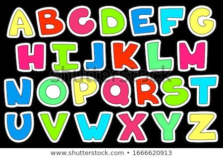 Karikatür alfabe harfler öğrenme örnek Stok fotoğraf © izakowski