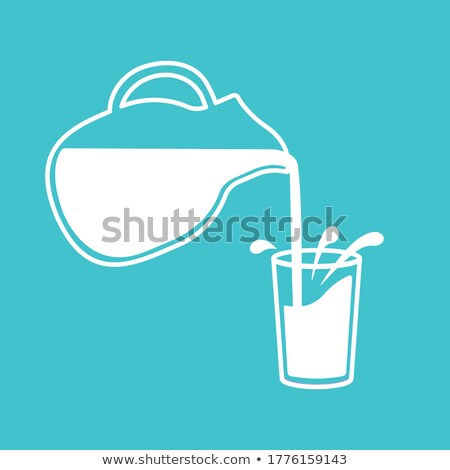 Milk Poured in Bottle Icon Vector Illustration Stock photo © robuart
