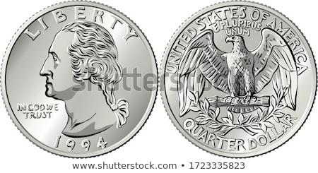 United States Quarter Dollar Reverse Drawing Stock photo © patrimonio