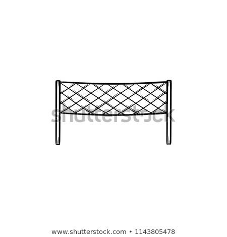 badminton net hand drawn outline doodle icon stock photo © rastudio