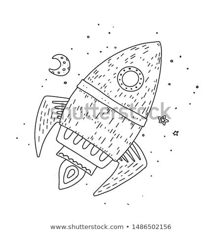 пространстве · ракета · вектора · искусства · иллюстрация · знак - Сток-фото © rastudio
