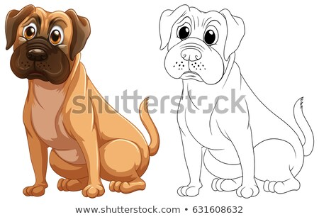 Doodles drafting animal for cute dog Stock photo © colematt