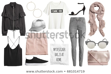 eenvoudige · kleding · jurk · iconen · vector - stockfoto © netkov1