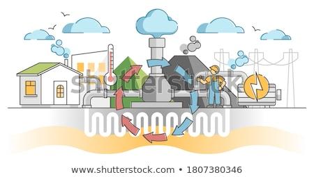 Heating system concept vector illustration. Stock photo © RAStudio