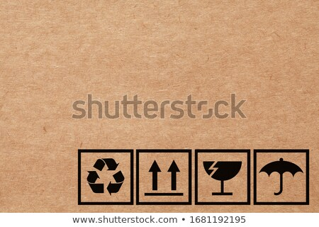 Frágil fechado pacotes fita adesiva correios armazenamento Foto stock © robuart
