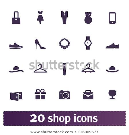 Vásárlás nő női cipők próbababa visel Stock fotó © robuart