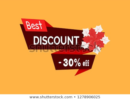 Best Discount 30 Percent Off Red Poinsettia Vector Stock photo © robuart
