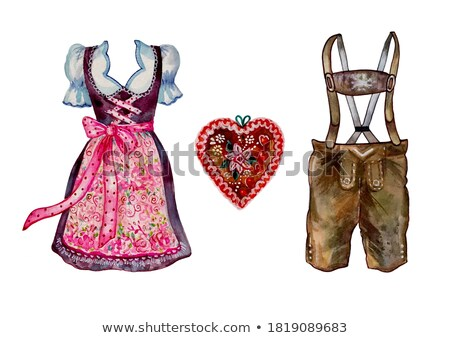 Clothespin Set on White Background Stock photo © make