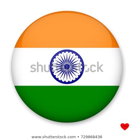 etiket · Hindistan · bayrak · eps10 · Yıldız · düğme - stok fotoğraf © colematt