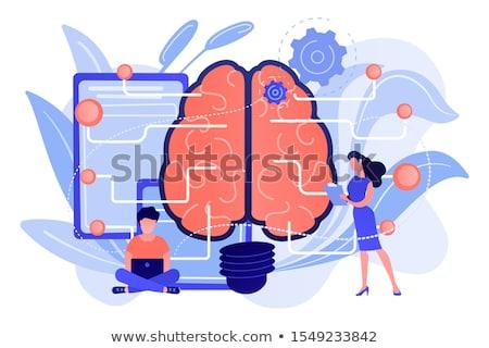 rede · 3D · prestados · ilustração · saúde · cérebro - foto stock © elnur