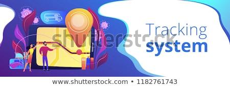 bus · scolaire · icône · couleur · design · enfants · fond - photo stock © rastudio