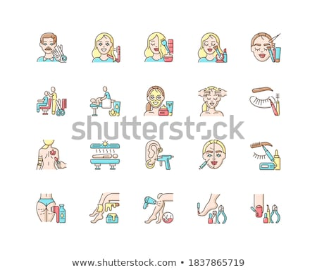 Hair Styling, Manicure and Massage, Tanning Vector Stock photo © robuart