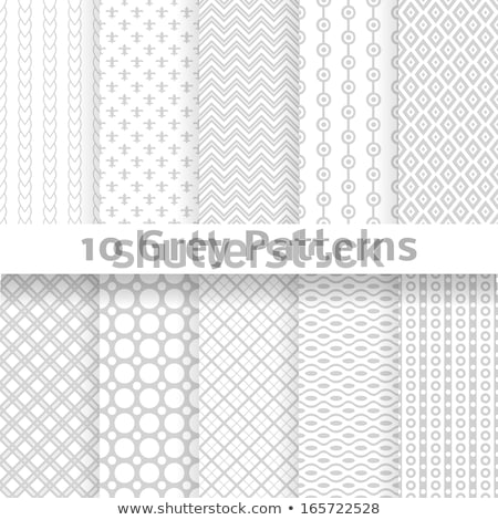 Foto stock: Set Of Silver Seamless Pattern Vector Texture Design Abstract Seamless Geometric Pattern Light