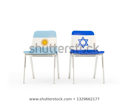 Two chairs with flags of Argentina and israel Stock photo © MikhailMishchenko