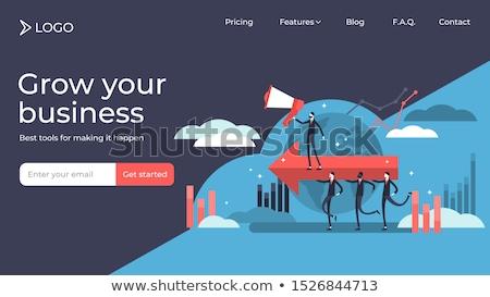 Carriere ontwikkeling landing pagina sjabloon persoonlijkheid Stockfoto © RAStudio