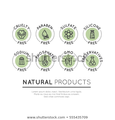 Stock photo: Preservatives Free, Natural Product Vector Stickers Set