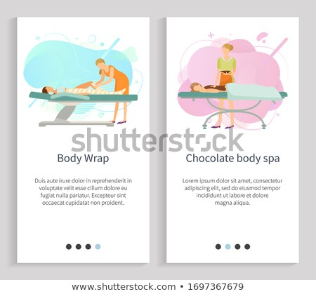 Body Wrap and Resort Relaxation of Woman Vector Stock photo © robuart