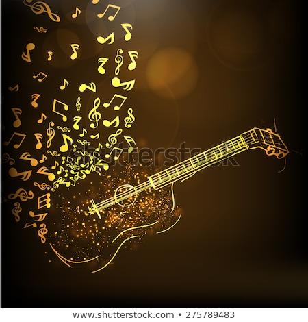 hangjegyek · csillagok · bokeh · fények · zene · absztrakt - stock fotó © alexaldo