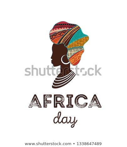 Africa giorno poster tribali african arte Foto d'archivio © cienpies