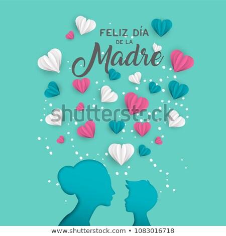 スペイン語 日 カード カットアウト ママ ストックフォト © cienpies
