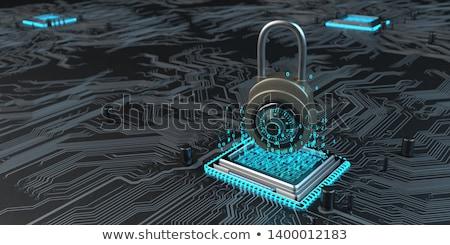 Hardver titkosítás adat notebook kódolt 3d illusztráció Stock fotó © limbi007
