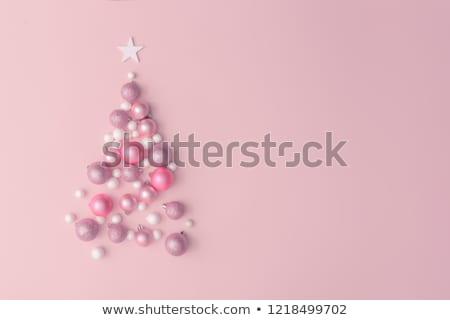 rosa · Natale · gingillo · pallido · sospeso · oro - foto d'archivio © neirfy