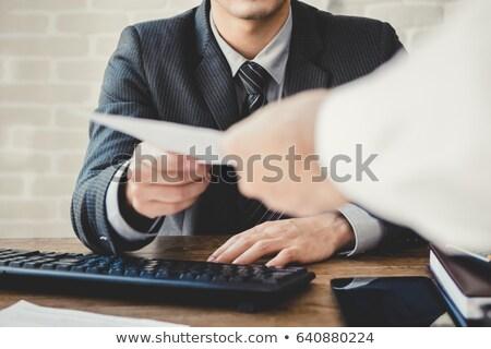 Passing documents Stock photo © pressmaster