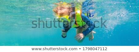 子 着用 シュノーケリング マスク ダイビング 水中 ストックフォト © galitskaya