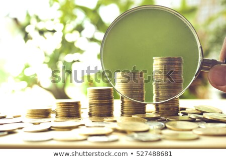Geld vergrootglas hand business papier man Stockfoto © rufous